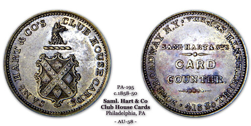 Samuel Hart token PA 195