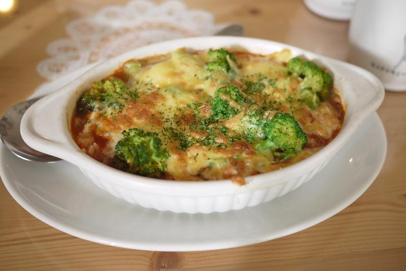 番茄紅醬花椰菜焗烤飯