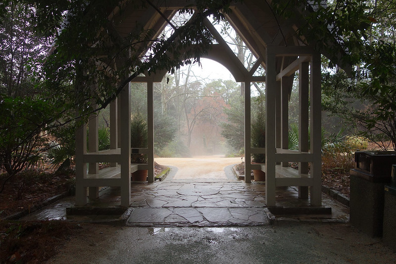 Gazebo in the rain