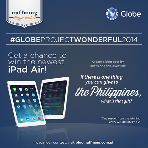 globe project wonderful and nuffnang