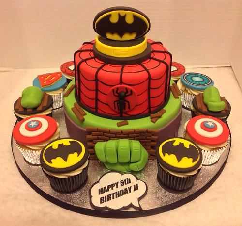 Superhero Birthday Cake Mike