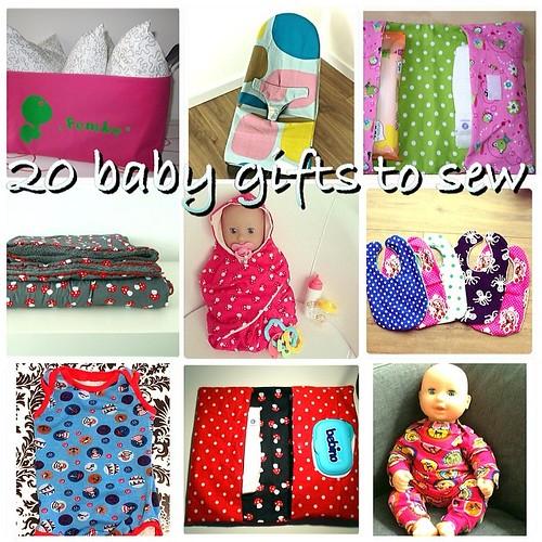 20 baby gifts to sew - 20 babycadeautjes om zelf te naaien, Laloe.be