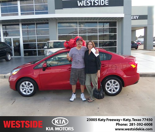 #HappyAnniversary to Maria Garza on your 2012 #Kia #Rio from Zachary Randall  and everyone at Westside Kia! by Westside KIA