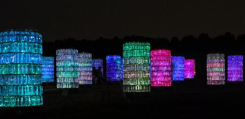 light glass pa longwoodgardens watertowers nightpicture 15challengeswinner brucemunro