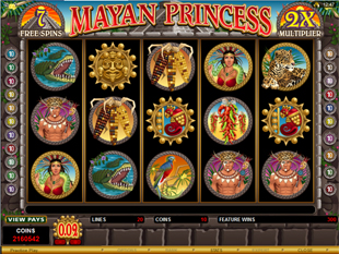Mayan Princess Free Spins