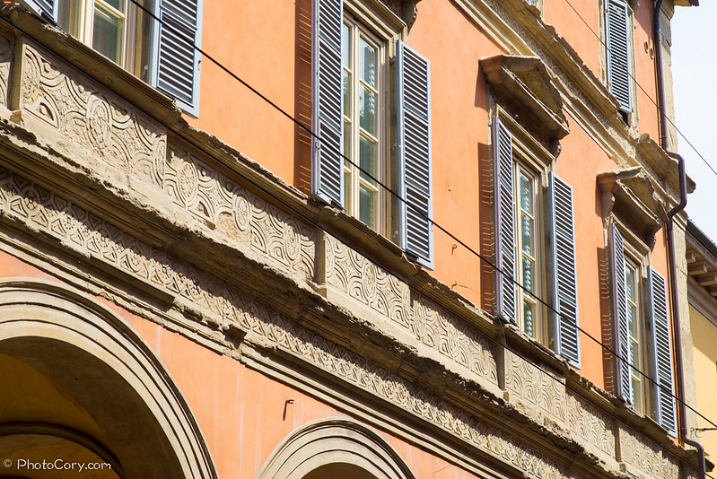 windows, Bologna, Italy