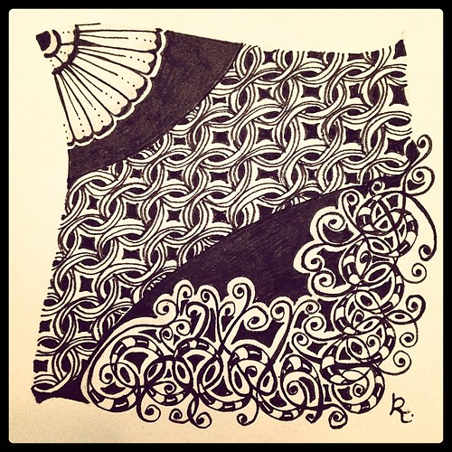 Zentangle 75 SOLD via http://www.gofundme.com/CZT-to-be #zentangle #tangle #mi2 #linq #flora