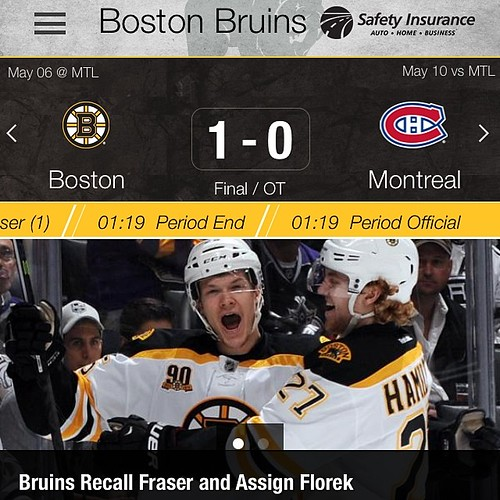128:365 OT games stress me out. Thankfully the Bruins wrapped this one up in less than 2 minutes.