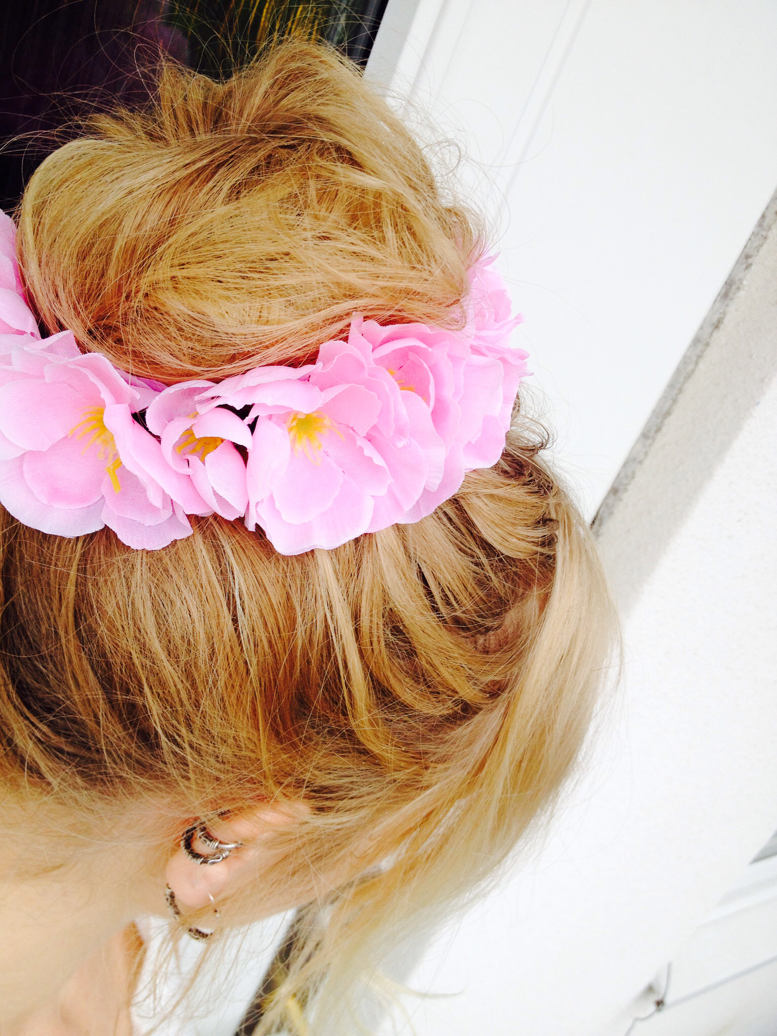 fabric flowers hair band