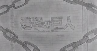 「進撃の巨人」のオープニングを、シャープペンシルで手描きのパラパラ漫画風映像に作り上げた作品