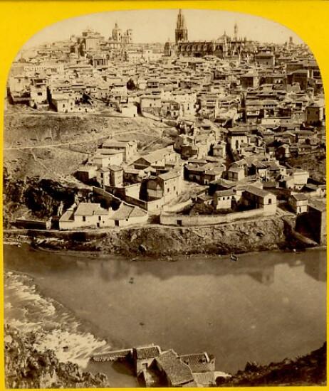 Toledo,vista general en 1863. Fotografía de Ernest Lamy