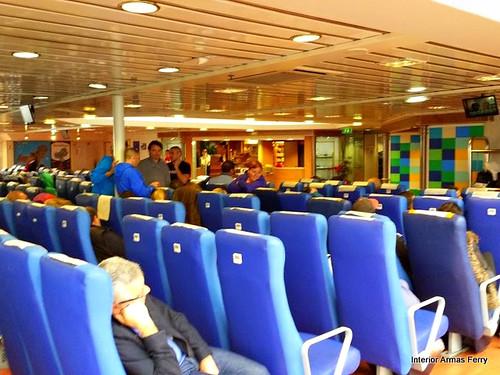 ferry interior, Canary Islands