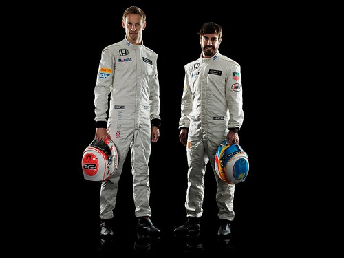 Jenson Button Fernando Alonso McLaren-Honda MP4-30 2015