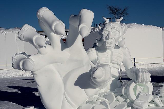 Carnaval de Québec 2015 - Sculpture sur neige - La Paume