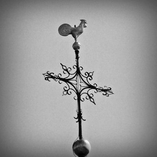 Weather vane on top of Baasrode's church