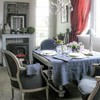 French Fashion Dining Space Decorating Tips in Gray and Red Colors