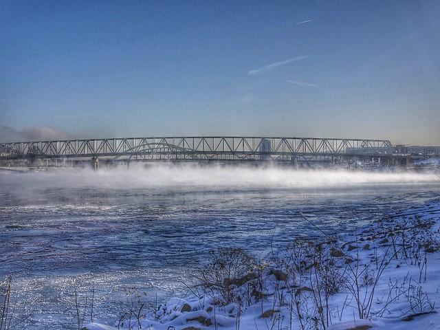 frozen Ohio River