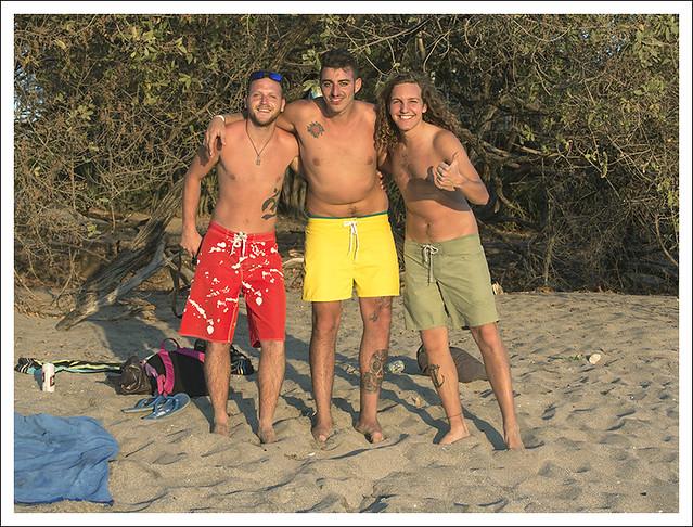 Three Italian Guys Playa Langosta2015-02-14