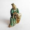 Antique Vintage Hand-Molded Chinese Mud Man Mudman Seated Figure