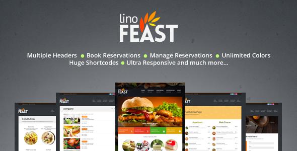 LinoFeast v6.0.0 – Restaurant Responsive WordPress Theme