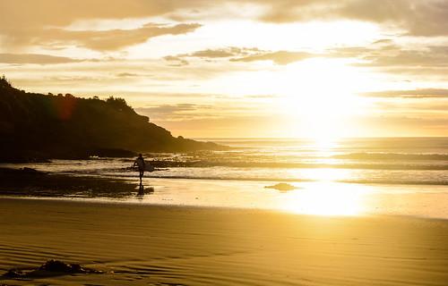 newzealand sunrise surfer sonnenaufgang neuseeland