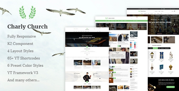 Charly v1.0.0 - Responsive Church/Religious Joomla Theme