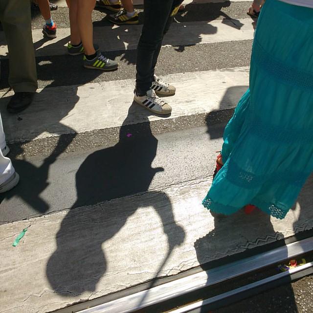 L'ombra di un #sentinello #milanopride2016 #pride2016 #sentinellidimilano