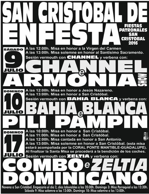 Santiago de Compostela 2016 - Festas de San Cristovo de Enfesta - cartel