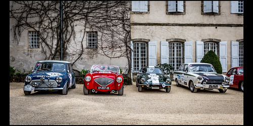 Austin Mini Cooper S 1300 (1968) / Lotus Elite (1960) / Austin Healey 100 M (1954) / Ford Cortina Lotus (1965)
