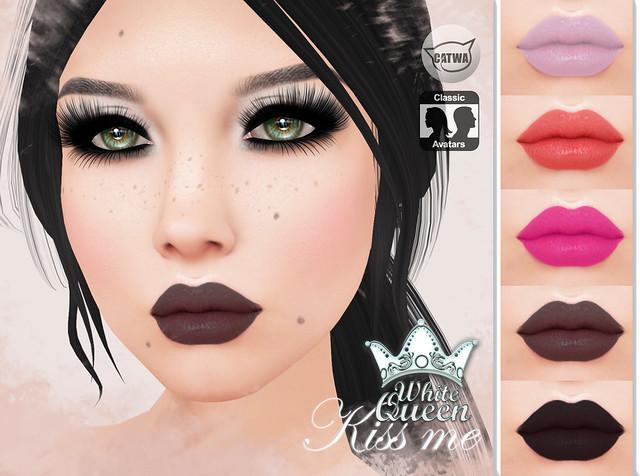 ::White Queen:: lipstick Kiss Me