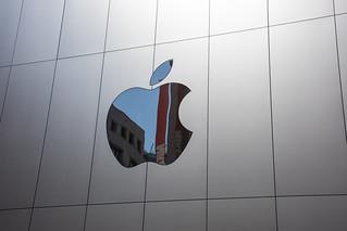 Apple Store logo reflection - San Francisco, CA