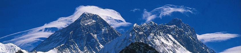 Nepal, Lodge-Trekking. Mount Everest, Nuptse und Lhotse vom Kala Pattar. Foto: Günther Härter.