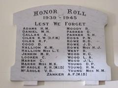 Long Plains WW2 Honor Roll