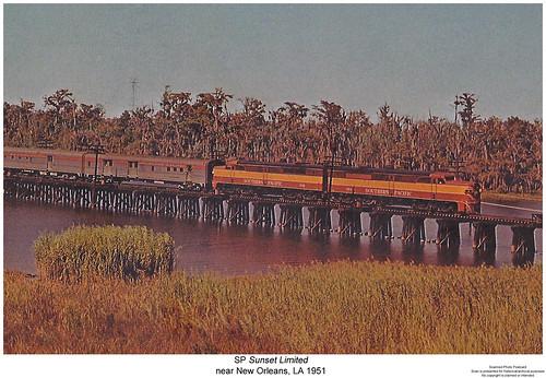 railroad train louisiana diesel railway trains pa sp locomotive trainengine southernpacific streamliner alco passengertrain espee pa1 sunsetlimited sixaxle