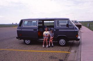 "North Dakota    -    Badlands    -   Jessica & Jeb  (""For Dad in Korea"")    -    7 July 1984"
