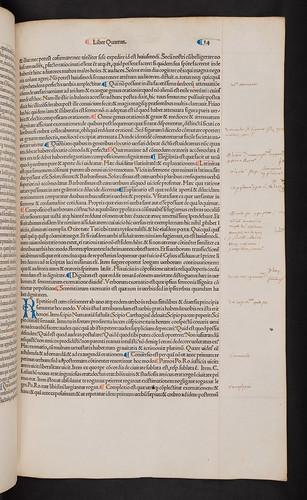 Manuscript annotations in Cicero, Marcus Tullius: Opera