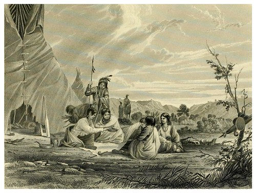 023-Mujeres indias en el juego de las ciruelas-The Indian tribes of the United States..1884-H. R. Schoolcraft