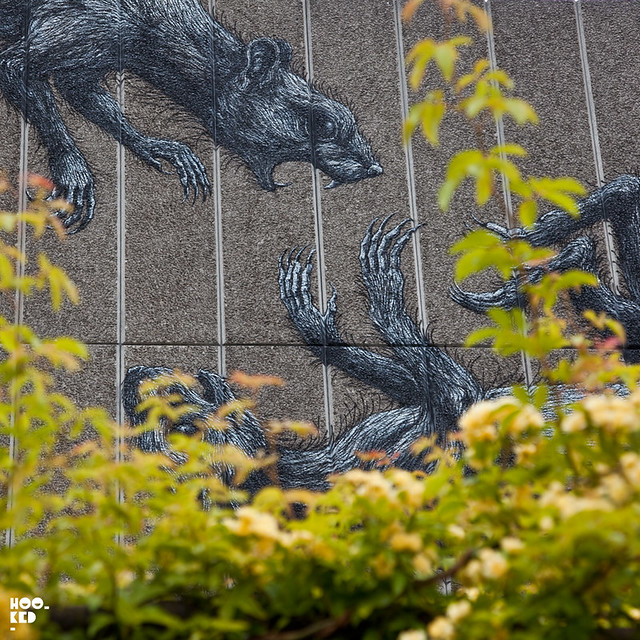 ROA's South Bank Centre Mural in London.