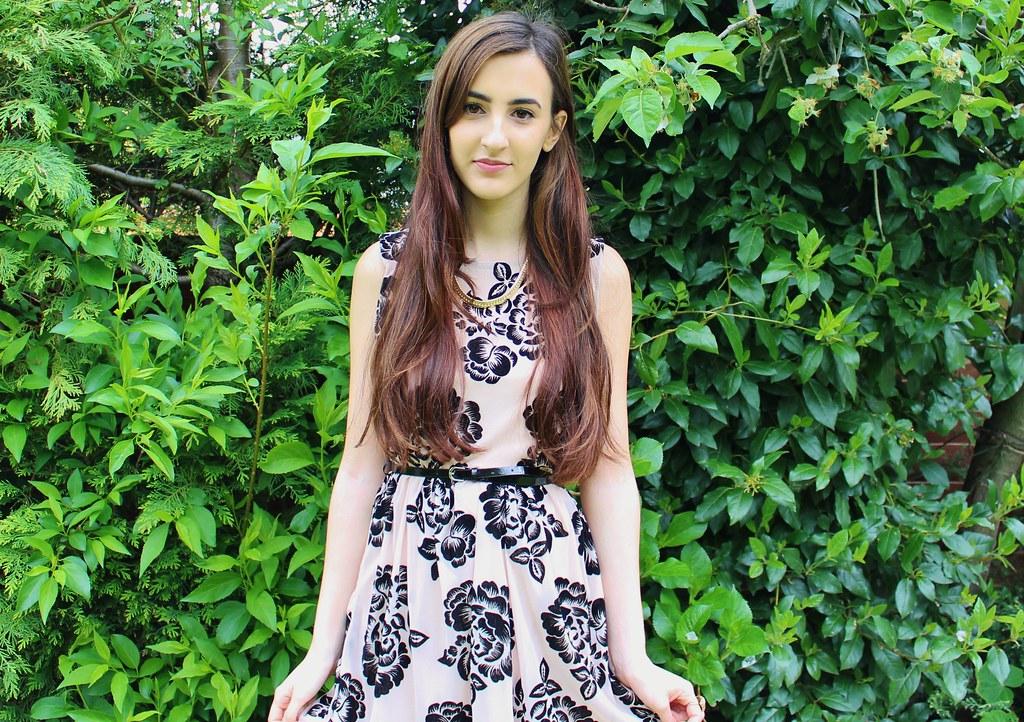 Floral Dress OOTD 4