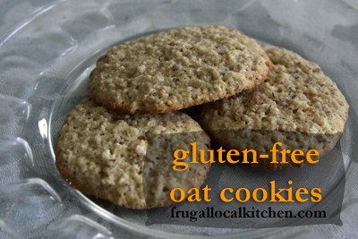 Gluten Free Breakfast Oat Cookies
