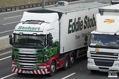 Scania R440 6x2 - PX62 CMO - Millie Ann - Eddie Stobart - M1 J10 Luton - Steven Gray - IMG_0005