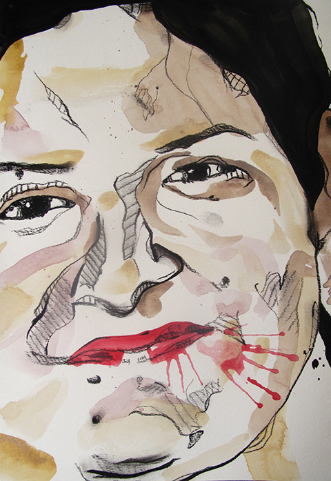 Slikor, Mixed media painting, Chanda Mustaq (Study 1)