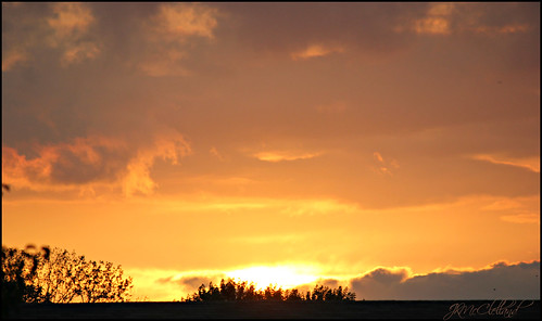 sunset sky orange yellow clouds evening indiana merrillvillein northwestindiana