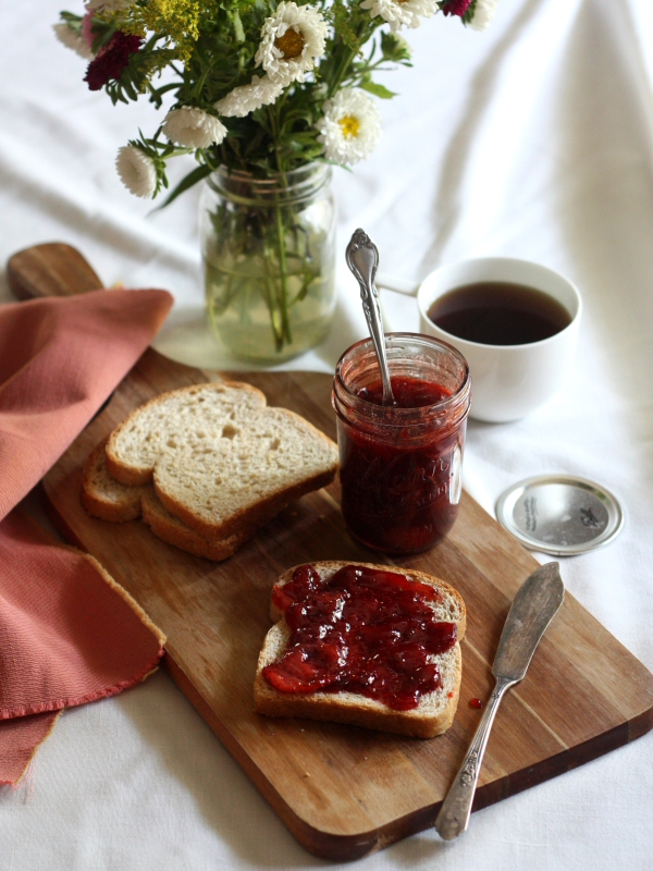 Strawberry Rosewater Jam with Vanilla