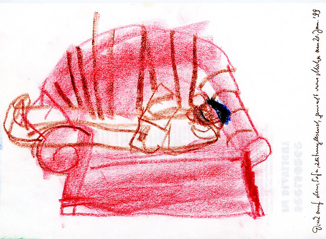 das rote sofa in der mittagspause flickr photo sharing. Black Bedroom Furniture Sets. Home Design Ideas