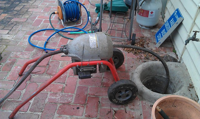 The plumber's tree root machine