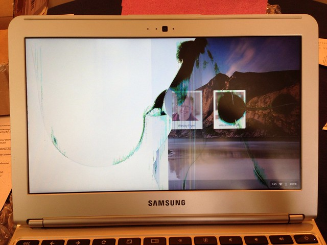 Cracked Chromebook Screen