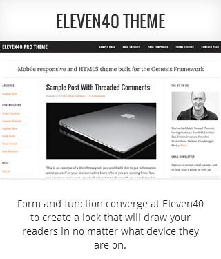 Genesis child theme Eleven40