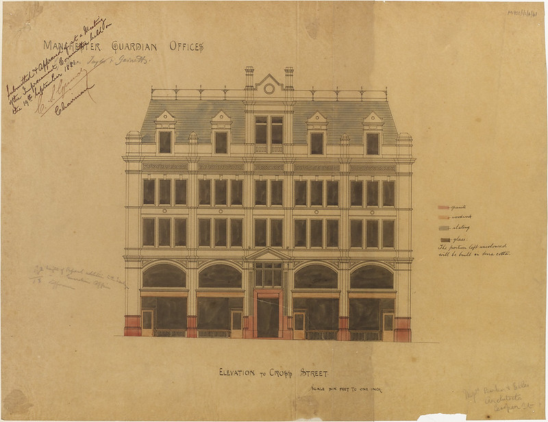 Manchester Guardian Office by Barker and Ellis, 19 Sep 1881