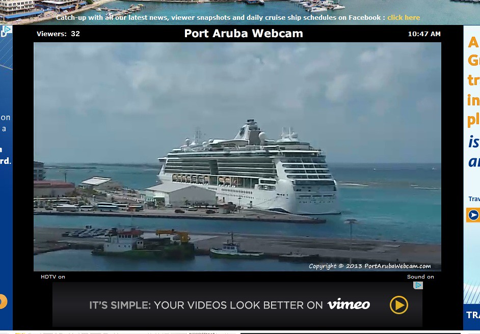 New Webcam To See Cruise Ships Sail Into Aruba Cruise